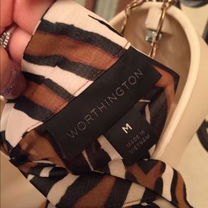 Worthington zebra print top